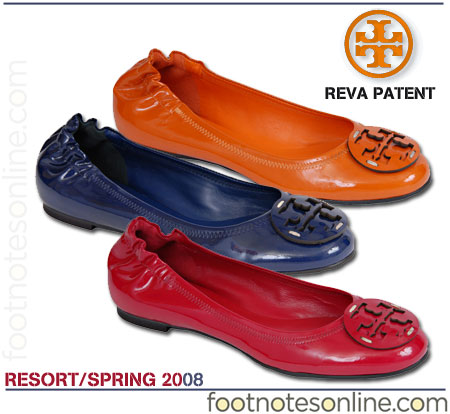 Tory Burch Reva Patent Ballets from Spring 2008 Collection