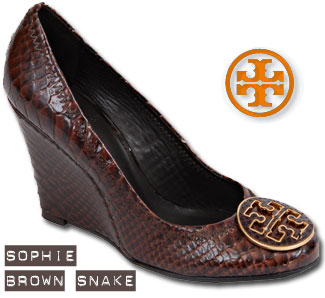 Tory Burch Sophie in Brown Snake