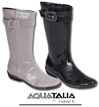 Aquatalia Wisk Boot in Black and Grey