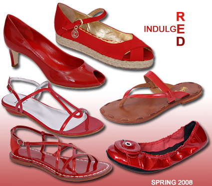 Red Shoes and Sandals