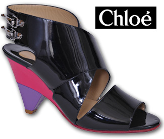 Chloe - CH10150 - Black Patent Leather Sandal2