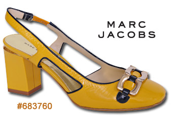 Marc Jacobs #683760 Yellow Slingback
