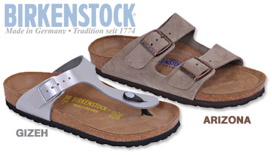 Birkenstock Arizona and Gizeh Sandal
