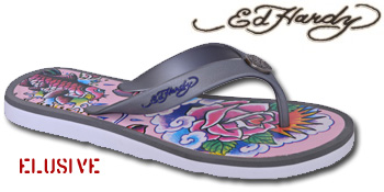 369b01647c74 The ever-elusive Ed Hardy Ed Hardy Flip Flop is actually available… Since  adding his trademark designs and eponymous style to footwear